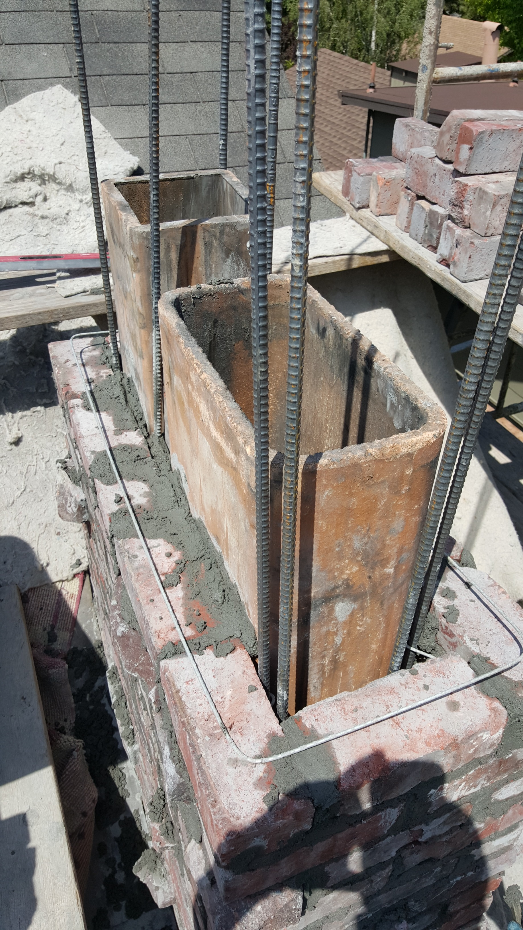 how to build a brick chimney